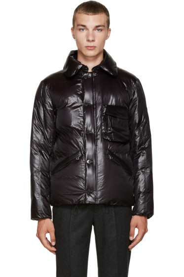 08Sircus - Black Nylon Down Jacket