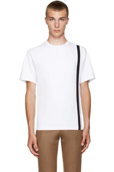 Kolor - White Single Stripe T-Shirt