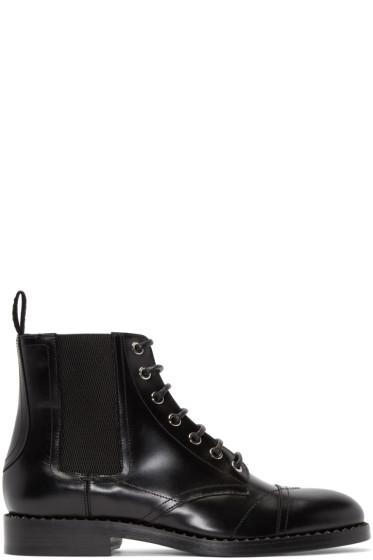 Jimmy Choo - Black Leather Jules Boots