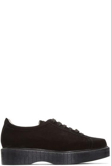 Robert Clergerie - Black Suede Pasket Sneakers