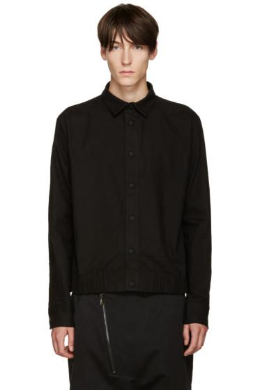 D.Gnak by Kang.D - Black Elasticized Hem Shirt