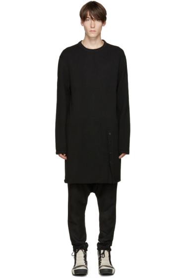 D.Gnak by Kang.D - Black Long Knit Pullover