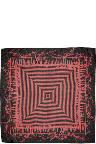 Haider Ackermann - Black & Red Patterned Scarf