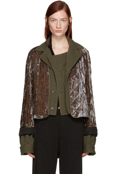 Haider Ackermann - Brown Quilted Velvet Jacket