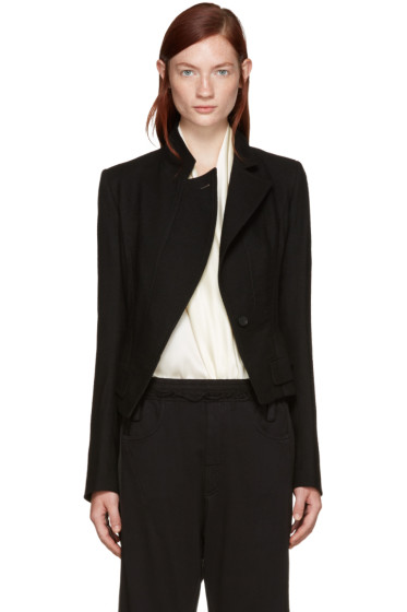 Haider Ackermann - Black Off-Set Pocket Blazer