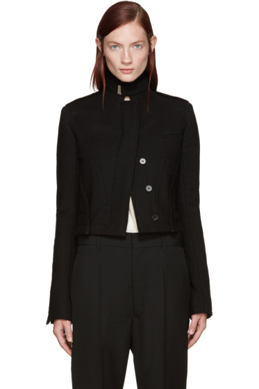 Haider Ackermann - Black Off-Set Pocket Jacket
