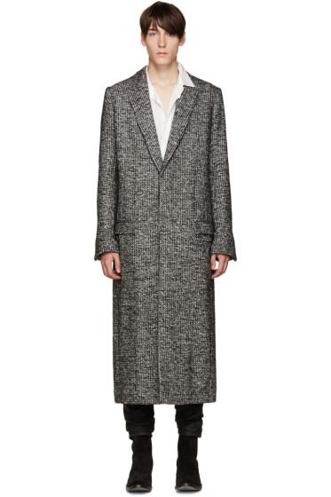 Haider Ackermann - Black Tweed Dupre Coat