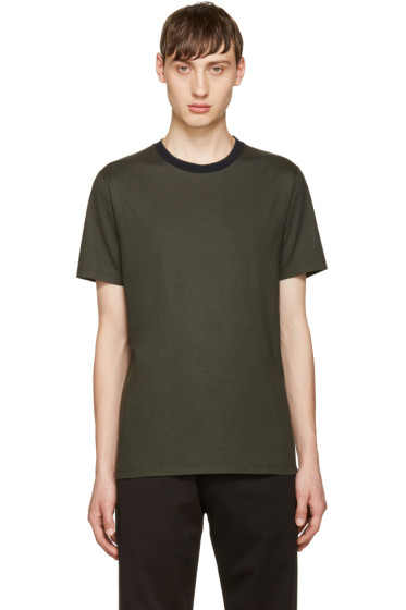 Giuliano Fujiwara - Green Striped Collar T-Shirt