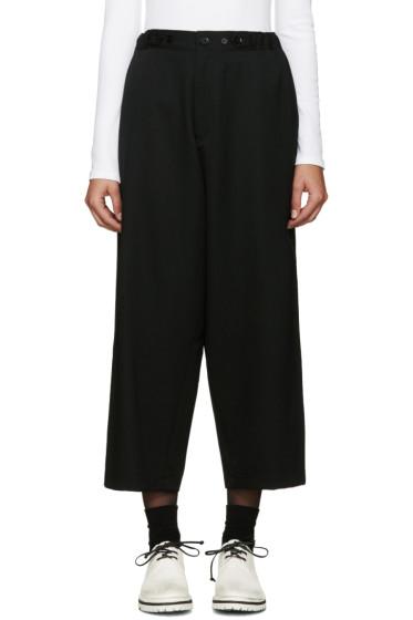 Yohji Yamamoto - Black Cinch Tabs Wide-Leg Trousers