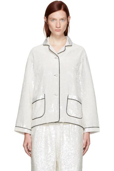 Ashish - SSENSE Exclusive Ivory Sequin Pyjama Shirt