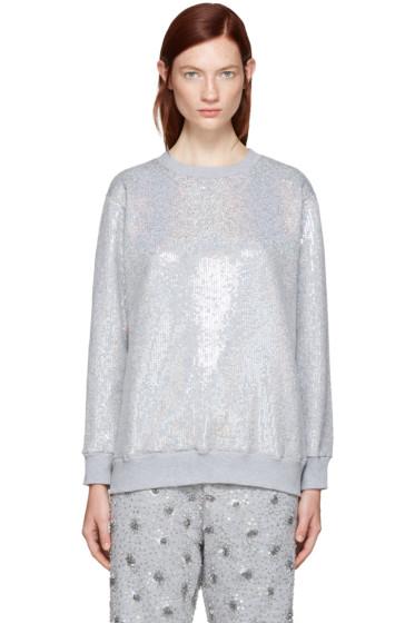 Ashish - SSENSE Exclusive Silver Sequin Sweatshirt