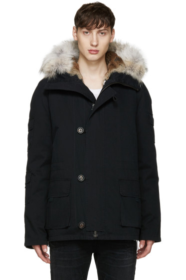 Yves Salomon - Black Short Original Parka