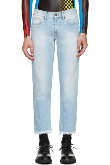 Off-White - Blue Cropped Jeans