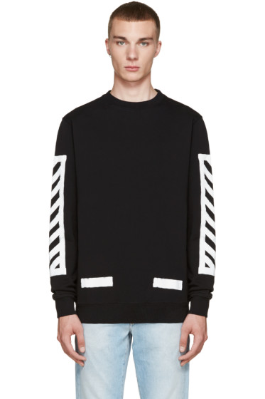 Off-White - Black Brushed Diagonals Pullover