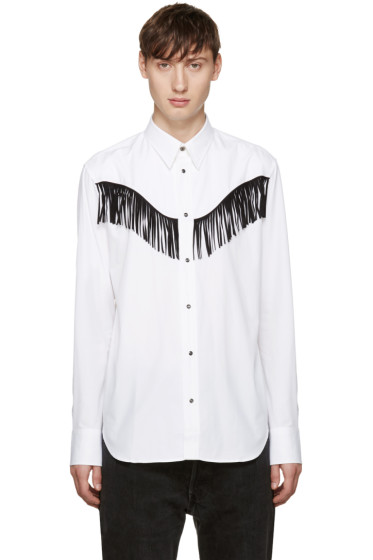 Johnlawrencesullivan - White Fringed Shirt