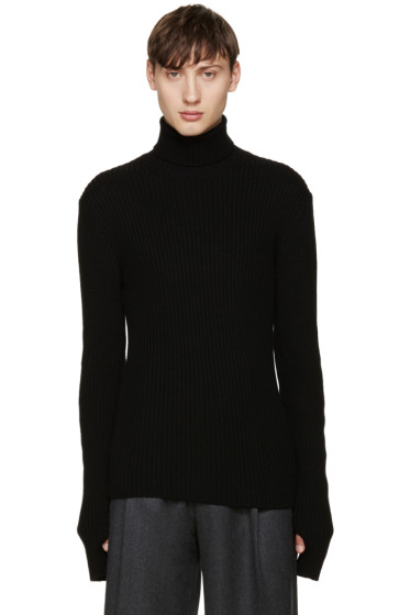 Johnlawrencesullivan - Black Ribbed Turtleneck
