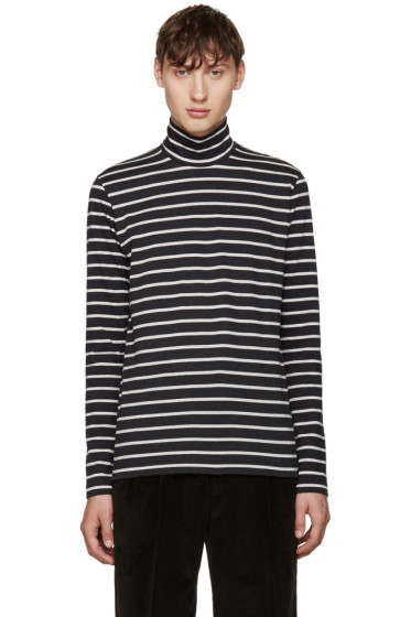Johnlawrencesullivan - Grey Striped Turtleneck