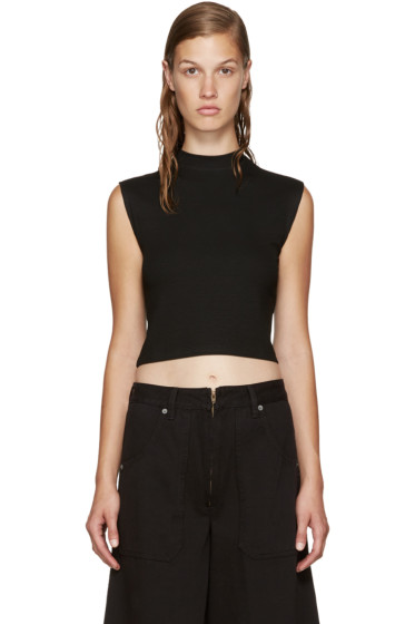 Nomia - Black Cropped Muscle Top