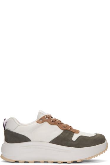Eytys - White & Khaki Jet Combo Sneakers