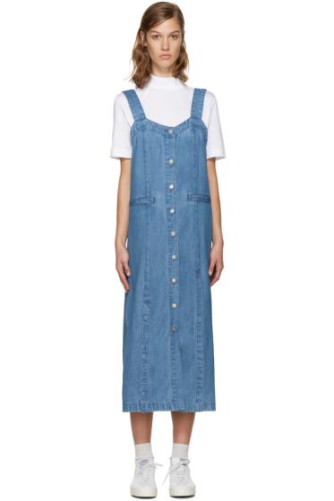SJYP - Blue Denim Unbalanced Dress