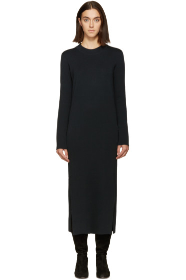Lemaire - Blue Knit Wool Dress