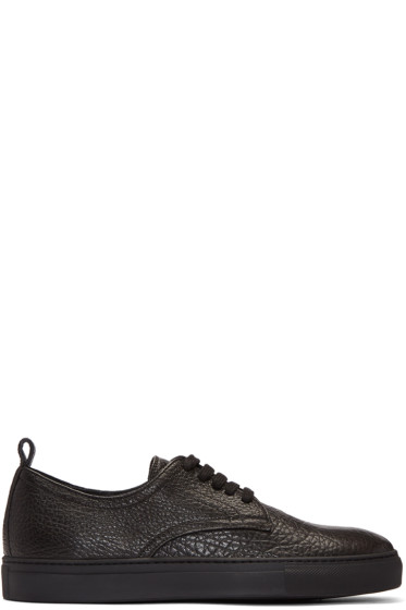 AD Ann Demeulemeester - Black Leather Arid Sneakers