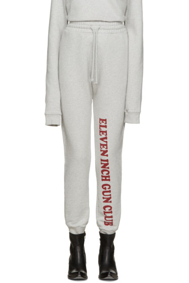 Vetements - Grey 'Eleven Inch Gun Club' Lounge Pants