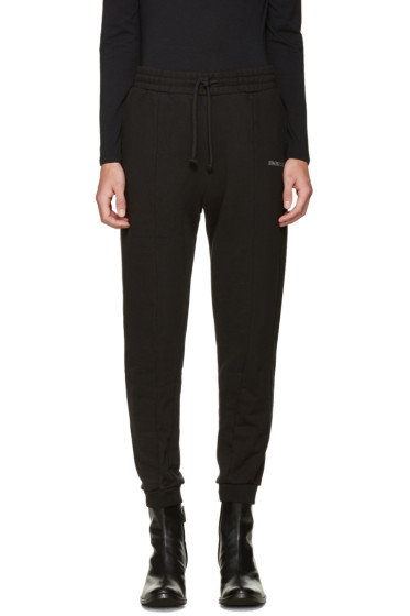 Vetements - Black Embroidered Logo Lounge Pants