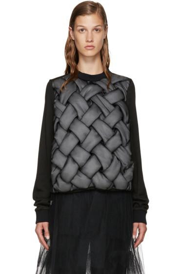 Noir Kei Ninomiya - Black Padded 3D Pullover