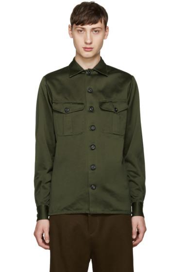 Loewe - Green Canvas Army Shirt