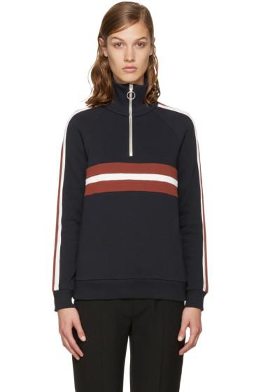 Harmony - Navy Sidonie Zip-Up Pullover