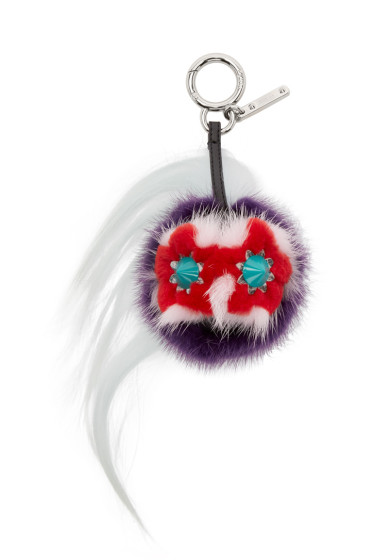 Fendi - Multicolor Fur-Trimmed Mini Bug Keychain