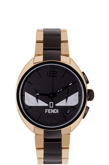 Fendi - Gold & Black Momento Bugs Watch