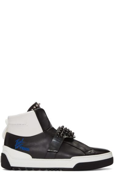 Fendi - Black Karlito High-Top Sneakers