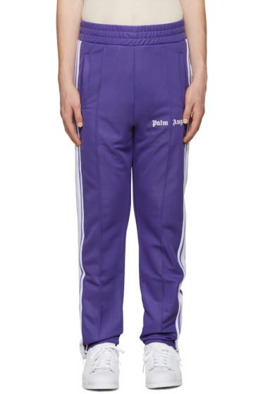Palm Angels - Purple Logo Track Pants