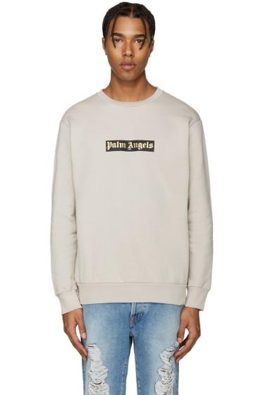 Palm Angels - Beige Logo Sweatshirt