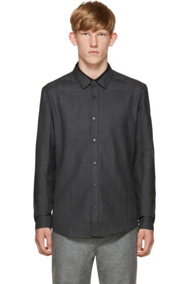 Wooyoungmi - Grey Layered Collar Shirt