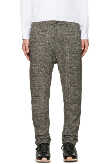 Attachment - Black Wrinkled Houndstooth Trousers