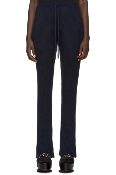Marques Almeida - Navy Wool Lounge Pants