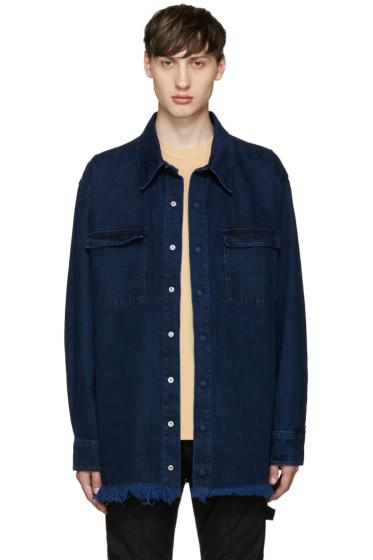 Marques Almeida - Indigo Oversized Denim Shirt
