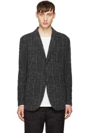Issey Miyake Men - Grey Shrunk Block Blazer