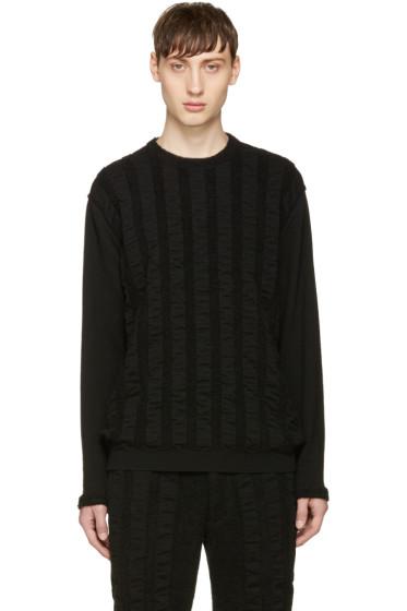 Issey Miyake Men - Black Wave Pile Sweater
