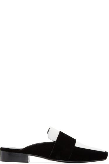 Dorateymur - Black & White Velvet Filiskyie Loafers