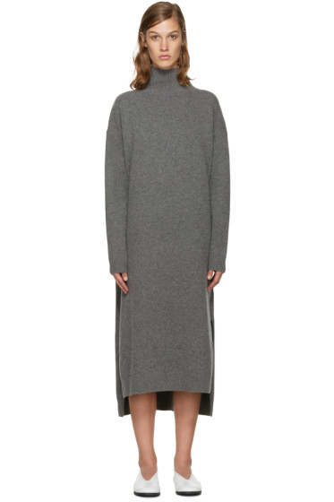 Enfold - Grey Wool Turtleneck Dress