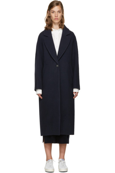 Enfold - Navy Wool Oversized Coat