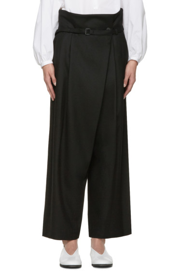Enfold - Black Wide-Leg Trousers