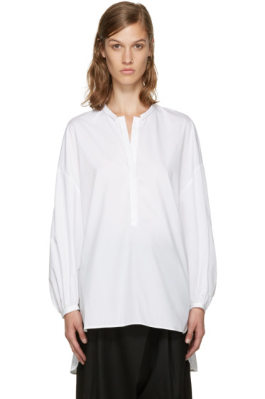 Enfold - White Voluminous Blouse
