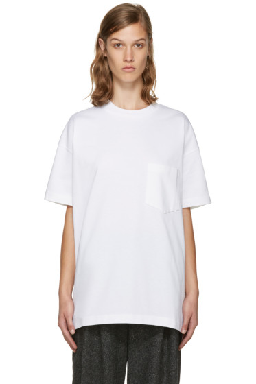 Enfold - White Pocket T-Shirt