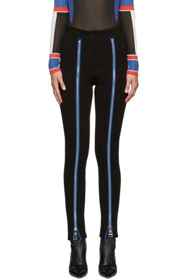 Emilio Pucci - Black Zipper Leggings