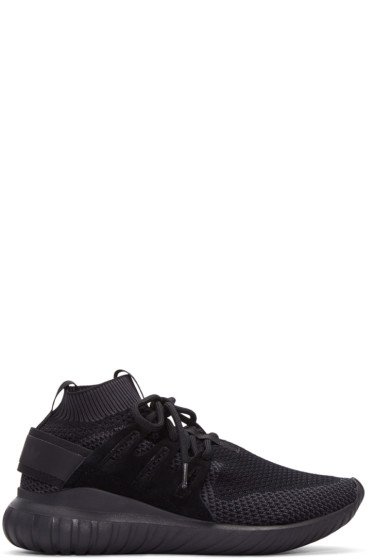 adidas Originals - Black Tubular Nova Primeknit Sneakers